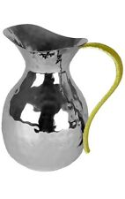 Classic Touch SPP809, beautiful Water Pitcher (Vase) Hammered w Gold Handle