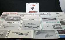 VINTAGE MILITARY AIRFORCE AIR FORCE RECOGNITION TRAINING POSTERS LOT OF 19 JETS