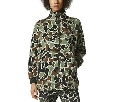 adidas Originals Women's Camo Fleece Jacket Loose Fit Retro Soft Shell UK 8 10