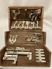 Antique Singer Sewing Machine Wooden Roll Up Puzzle Box Case