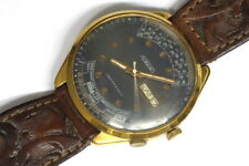 Pakema Russian watch with calendar bezel for Parts/Hobby/Watchmaker