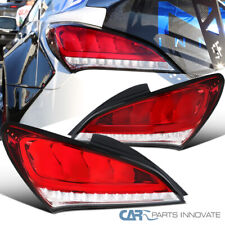 For 10-16 Genesis Coupe 2 Dr Red Clear LED Sequential Signal Tail Brake Lights