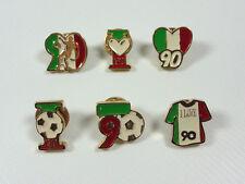 SERIE COMPLETA 6 SPILLE PINS BOOTLEG VINTAGE WORLD CUP MONDIALI CALCIO ITALIA 90