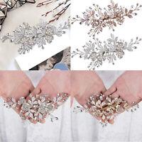 Wedding Hair Comb Clips Pins Crystal Pearl Headpiece For Bridal Bridesmaid Women