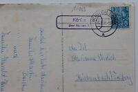 10063 Ak Landpoststempel Körlitz Over Wurzen 1956 GDR Ein Frohes Easter Rabbit