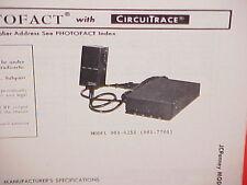 1978 JCPENNEY CB RADIO SERVICE SHOP MANUAL MODEL 981-6255 (981-7701) JC PENNEY