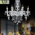 Elegant Modern Crystal Chandelier 6 Ceiling Light Lamp Pendant Fixture Lighting