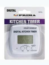 DIGITAL KITCHEN TIMER MEMORY COOKING STOPWATCH LCD ALARM CHEF EGG BEEP COUNT NEW