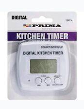 TIMER da cucina digitale della memoria allarme LCD CRONOMETRO DA CUCINA CHEF Egg segnale acustico conteggio NUOVO