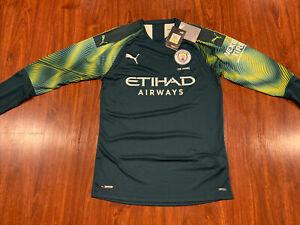 2019-20 Puma Manchester City Men's Long Sleeve Soccer Jersey Medium M Man City
