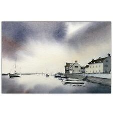 Wells Next to Sea, Norfolk, Landscape Watercolour Painting by Ben Jackson