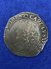 More details for charles 1st 1625-1649 shilling, mm triangle tower mint