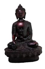 Lord Buddha Hand Carved Meditating Statue Resin Idol Sculpture 8 X 5 inches