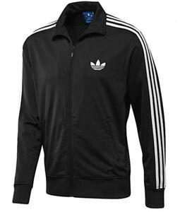 Men's New Adidas Originals Firebird Track Jacket Tracksuit Top  - Black