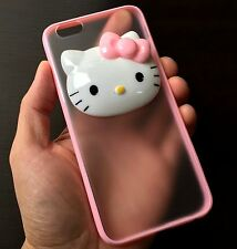 For iPhone 6 / 6S - HARD RUBBER TPU GUMMY SKIN CASE COVER PINK HELLO KITTY