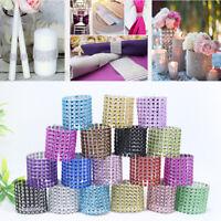 Diamond Napkin Ring Serviette Vase Wedding Banquet Dinner Chair Sash Decor