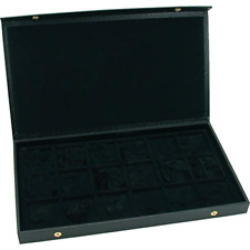 Box For 18 Watches Jewelry Holder Pocket Watch Display Case Storage Organizer