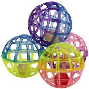 Spot Ethical LATTICE CAT BALLS with Bell Cat Toy 4 PACK