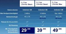 SONDERangeb O2 Free Unlimited Max / 4G 5G Unlimited / 300 MBit/s für 24,99? mtl