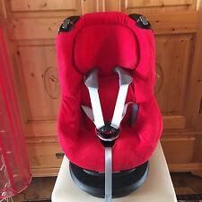 Sommerbezug Schonbezug Frottee für Maxi-cosi Tobi NEU rot