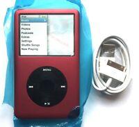 Apple iPod Classic 120GB 7th Gen Red Black - Custom Refurbished! New Battery