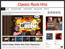 * CLASSIC ROCK VIDEO * blog website business for sale w/ AUTO UPDATING CONTENT!