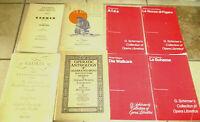 Lot 8 OPERA Liberettos Arias Carmen Aida LaBoheme More Music Books Booklets