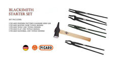 "SWP412 Blacksmith starter set, 4 New Picard 12"" Tongs & 1 Swedish Pattern Hammer"