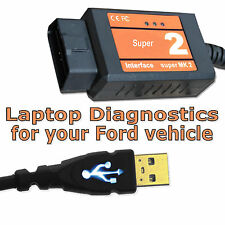 C-Max OBD Diagnostic Scanner Tool USB Code Reader Interface Cable uk for Ford