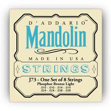 D'Addario EJ73 Phosphor Bronze Mandolin Strings 10-38 Light