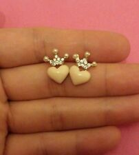 MELO YUMIS SHOP QUIRKY KITSCH Heart LOVE & CROWN QUEEN STUDS EARRINGS