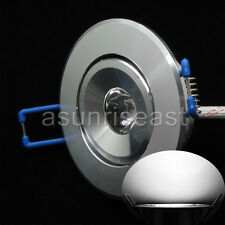 10 x White 1W LED Ceiling Recessed lights Downlight Lamp With Driver AC85-265V
