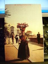 Cartolina 128 - San Remo  Venditrice di Fiori     Riproduzione da originale
