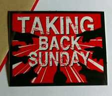 TAKING BACK SUNDAY WHERE YOU WANT TO BE RED BOARD CASE AMP STICKER