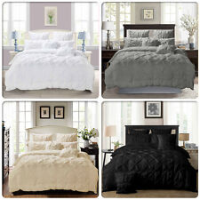 Diamond Pintuck Double/Queen/King/Super King Size Bed Duvet/Doona/Quilt Cover