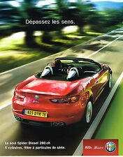 PUBLICITE ADVERTISING 114  2007  ALFA ROMEO  SPIDER  DIESEL  200 cv