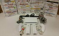 Nintendo Wii Console - Games - 2 sets AUTHENTIC controllers Gamecube Compatible