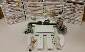 Nintendo Wii Console - Games - 2 sets AUTHENTIC controllers SAME DAY SHIPPING