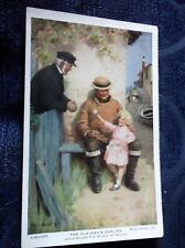 VINTAGE COLOUR POSTCARD HOME WORDS SERIES TARRANT OLD MEN'S DARLING UNPOSTED