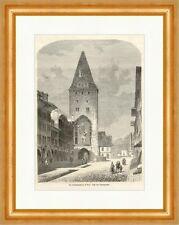 Der Christophelturm in Bern Schweiz Altstadt Spitalgasse Tor Holzstich E 8099