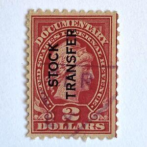 US 1928 Internal Revenue Documentary Stamp 2 Dollars Stock Transfer Scott RD31