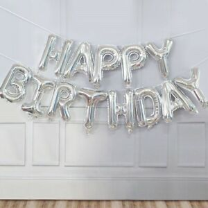 """16"""" Letter  Foil Balloons Happy  Birthday Banner  Party Decoration"""
