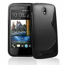 Black S Line Wave Gel Case Cover Back Skin for HTC Desire 500