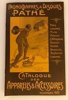 Phonographes à Disques Pathé - Catalogue 1906 - Gramophone - Phono - 1978