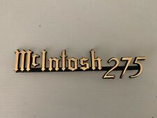 Rare  McIntosh MC275 Gold Plated Logo - NOS