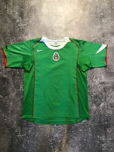 Nike Mexico Home Soccer Jersey Football 2004/05 Men Shirt Green Size L