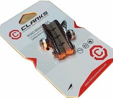 Clarks cp305 CARBONO Pastillas de freno Par Negro 55mm bicicleta carretera