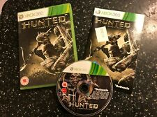 XBOX 360 GAME HUNTED THE DEMONS FORGE +BOX & INSTRUCTIONS COMPLETE PAL