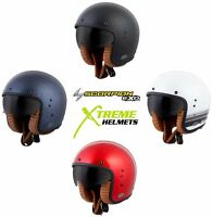 Scorpion Belfast Helmet Open Face 3/4 Retro Fiberglass DOT Approved XS-3XL