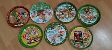 Lot of 7 Vintage KEEBLER Cookie ELF TRAY Metal Christmas Holiday 1979 1980 -1986